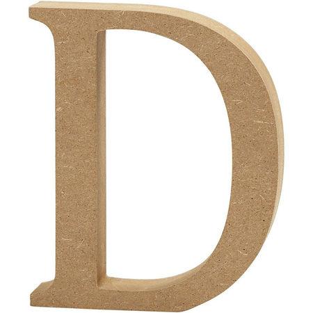 Letter D, hoogte 13 cm, dikte 2 cm, MDF, 1stuk (Locatie: KB)