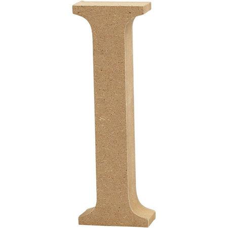 Letter I, hoogte 13 cm, dikte 2 cm, MDF, 1stuk (Locatie: KB)