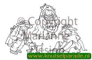 Marianne Design Clear stamp Little Sweethearts girl TC0816 (Locatie: NN021)