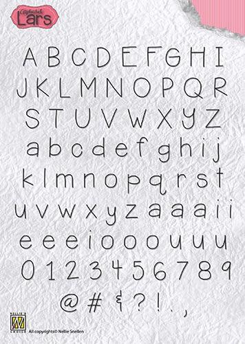 Nellie Snellen clear stamp Alphabet Lars ALCS002 (Locatie: NN303)
