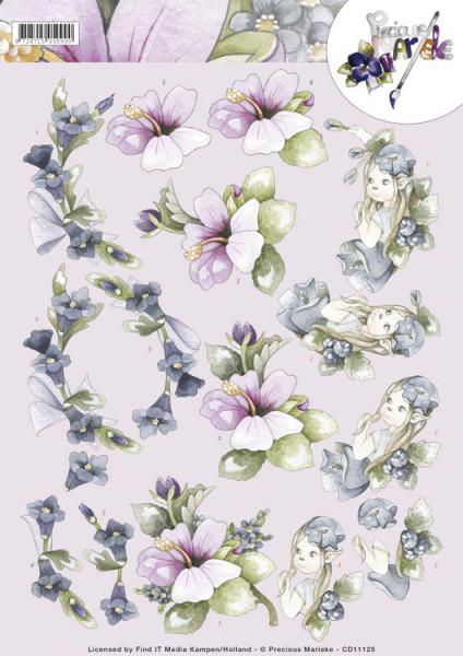 Precious Marieke knipvel bloemen CD11125 (Locatie: 2911)