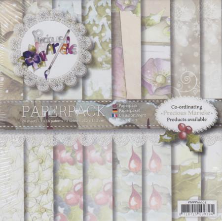 Precious Marieke, Paperpack, 15.2 x 15.2 cm, 24 vel 16 designs, PMPP10002