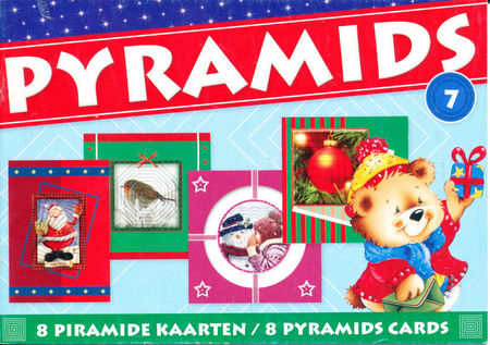 Pyramids 7 boekje thema kerst om 8 kaarten te maken PYRBOEKSL07 (Locatie: KB)