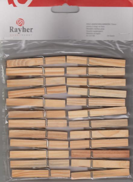 Rayher houten wasknijpers 72 mm / 24 stuks 6131700 (Locatie: )