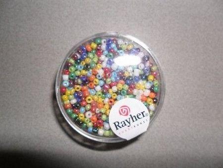 Rayher rocailles 2 mm assortiment 17 gr. 1406249 (Locatie: K3)
