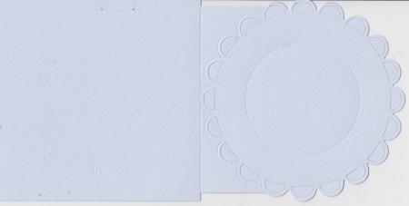 Romak bloem, vierkante kaart, lichtblauw K1 290 28 (Locatie: HH071)
