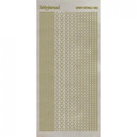 Shiny details stickervel glitter goud sterren SDS002TG (Locatie: D47)