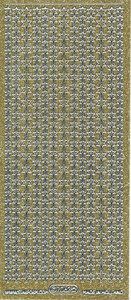 Starform sticker glitter goud/zilver 7062 (Locatie: HH115)