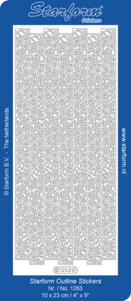 Starform sticker goud randje 1263 (Locatie: L219)