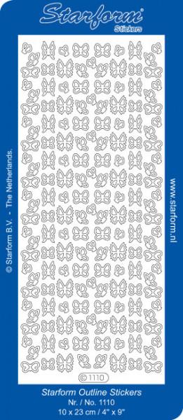 Starform sticker vlinders zilver 1110 (Locatie: K058)