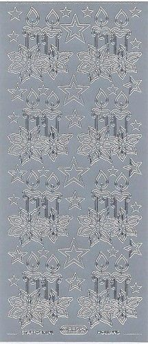 Starform sticker zilver kerst 862 (Locatie: U384)