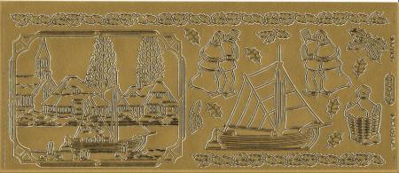 Starform stickervel goud 968 (Locatie: g320)