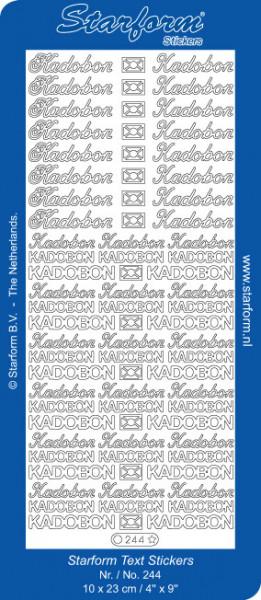 Starform stickervel kadobon goud 244 (Locatie: I228 )