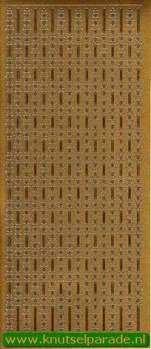 Starform stickervel sterrenrand goud 8520 (Locatie: E226)