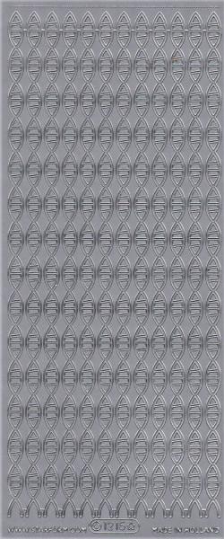 Starform stickervel zilver randje 1215 (Locatie: F103)