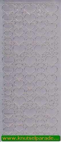Sticker zilver hartjes 1139 (Locatie: H260 )