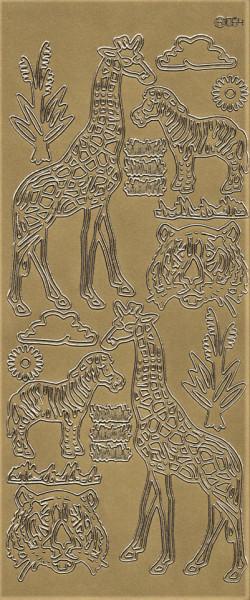 Stickervel goud dieren 064 (Locatie: j540)