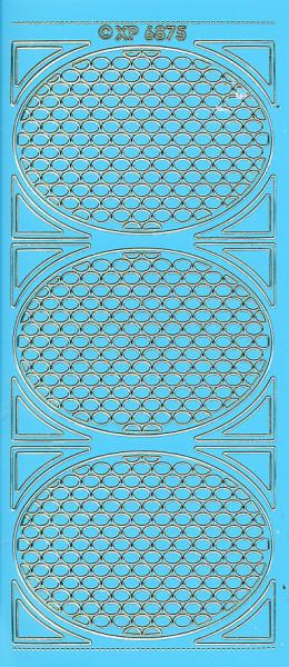 Stickervel hoeken blauw XP6875 (Locatie: f124)