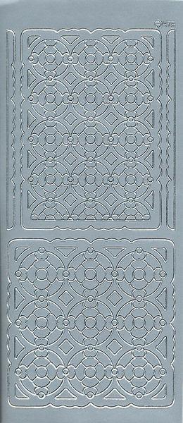 Stickervel hoeken zilver 473 (Locatie: u226)