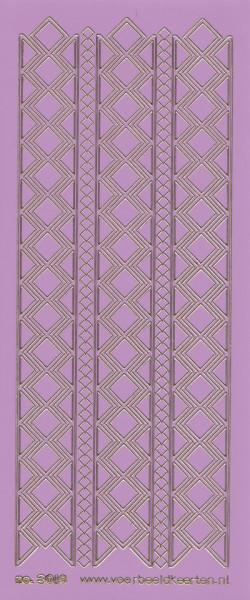 Stickervel lila/goud nr. 3019 (Locatie: K136 )