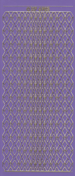 Stickervel paars/goud XP6903 (Locatie: K116)