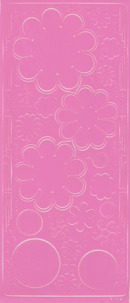 Stickervel roze bloemen 0400 (Locatie: S110 )