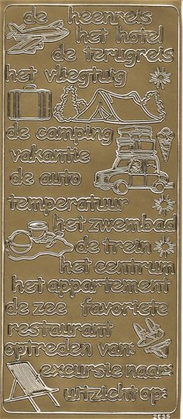Stickervel vakantie goud 2035 (Locatie: g222)