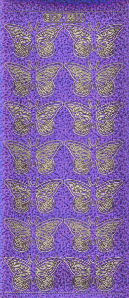 Stickervel vlinders paars holografisch XP5811 (Locatie: j546)