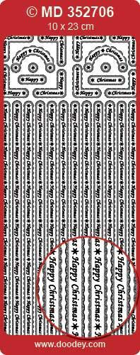 Stickervel zilver MD352706 (Locatie: zz108)
