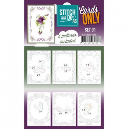 Stitch and Do A6 kaartenset 01 COSTDOA610001