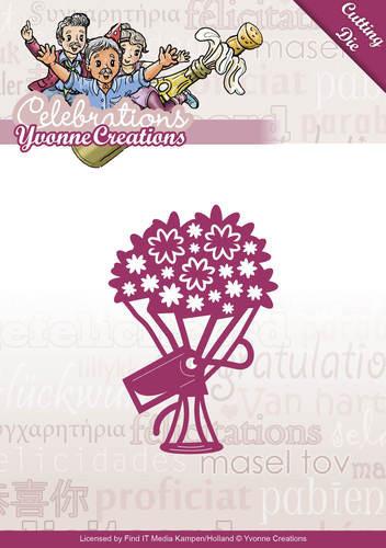Yvonne Creations snijmal boeket YCD10047 (Locatie: n05)