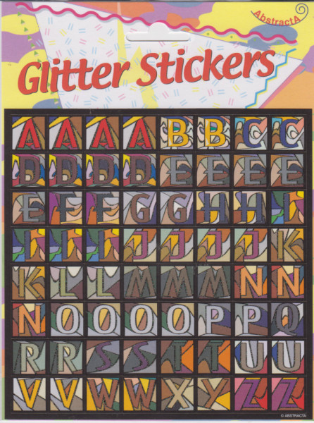 Abstracta glitter stickers letters (Locatie: 1316)