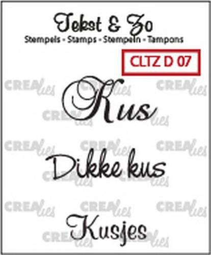 Crealies Clearstamp Tekst&Zo Divers 7(NL) CLTZD07 (Locatie: NN277)