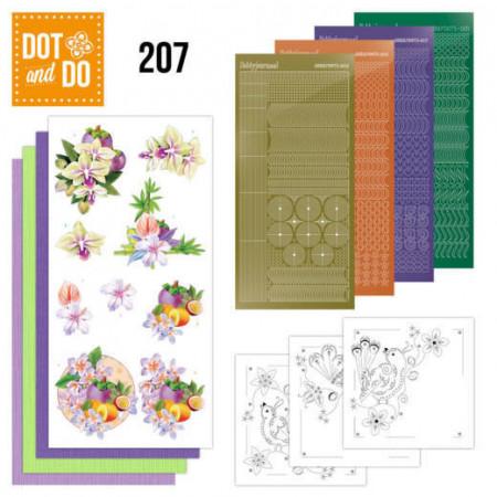 Dot and Do 207 Jeanine's Art - Exotic Flowers DODO207