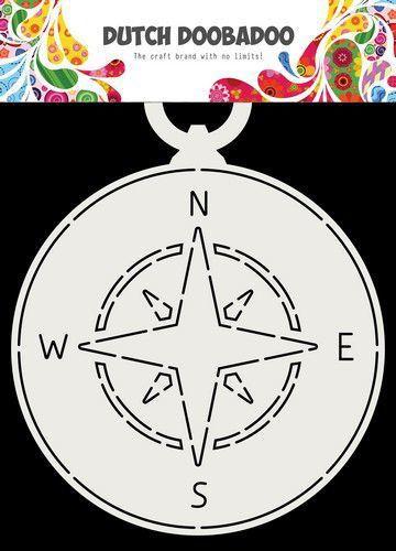 Dutch Doobadoo Fold Card Compass 145 x 190 mm stencil 470.713.717 (Locatie: 1346)