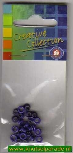 Eyelets kobalt blauw 25 stuks nr.20407/08 (Locatie: 5RC1 )