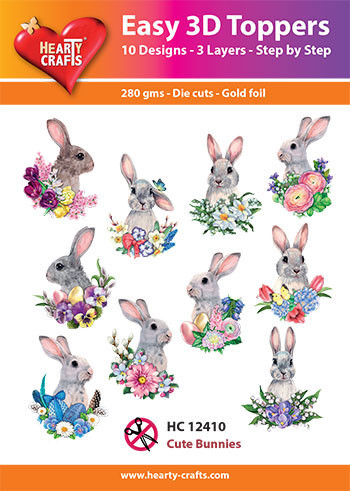 Hearty Crafts Easy 3D Toppers Cute Bunnies HC12410