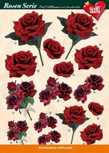 Hearty Crafts knipvel rozen 5 (Locatie: 4837)