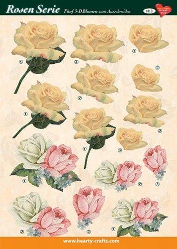 Hearty Crafts knipvel rozen 8 (Locatie: 4834)