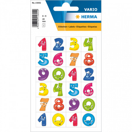 Herma stickers getallen 3 vel 15692 (Locatie: HE033)