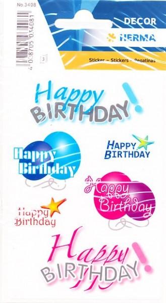 Herma stickers Happy Birthday 3 vel 3408 (Locatie: HE003)