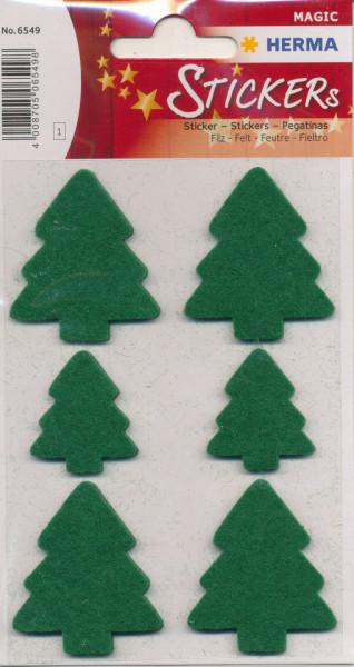 Herma stickers kerstbomen vilt 1 vel 6549 (Locatie: HE025)