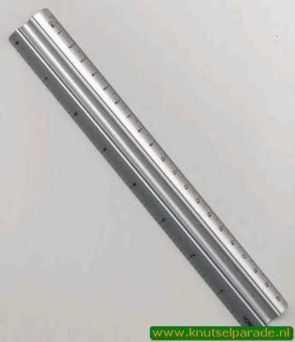 Hobby & Crafting Fun Liniaal aluminium 20 cm 12079-7920 (Locatie: K1)
