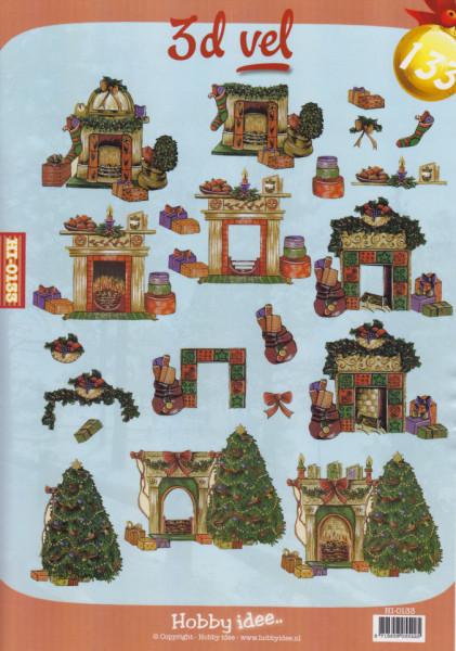 Hobby-Idee knipvel kerstmis HI-0133 (Locatie: 2803)