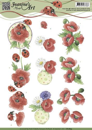 Jeanine's Art knipvel lieveheersbeestje CD10845 (Locatie: 1524)