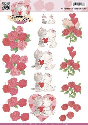Jeanine's Art knipvel valentijn CD10456 (Locatie: 5826)