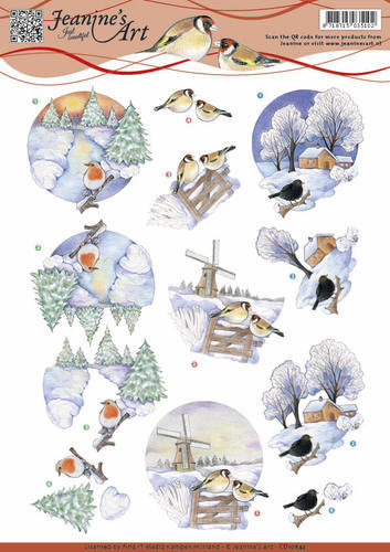 Jeanine's Art knipvel winter landschap CD10842 (Locatie: 4518)