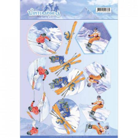 Jeanine's Art knipvel wintersport CD11031 (Locatie: 4536)
