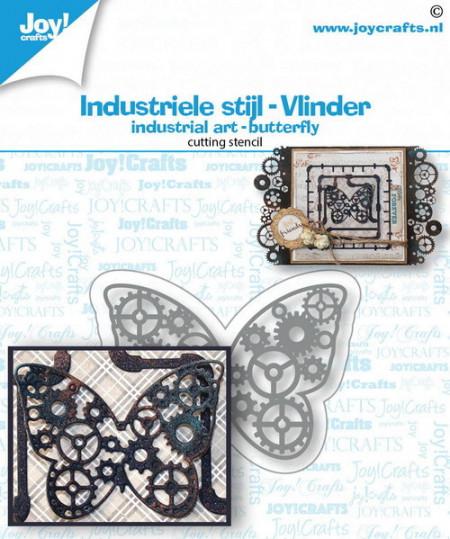 Joy! Crafts snijmal Industriële stijl - Vlinder 6002/1475 (Locatie: i499)