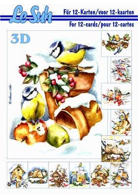 Le Suh boekje A5 Vogels in de sneeuw 345654 (Locatie: KB)